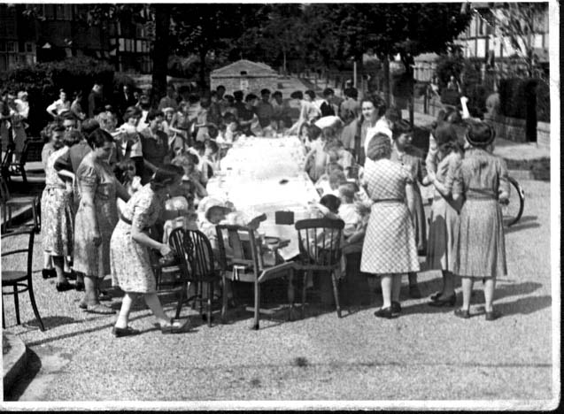 {Street Party VE Day 1945